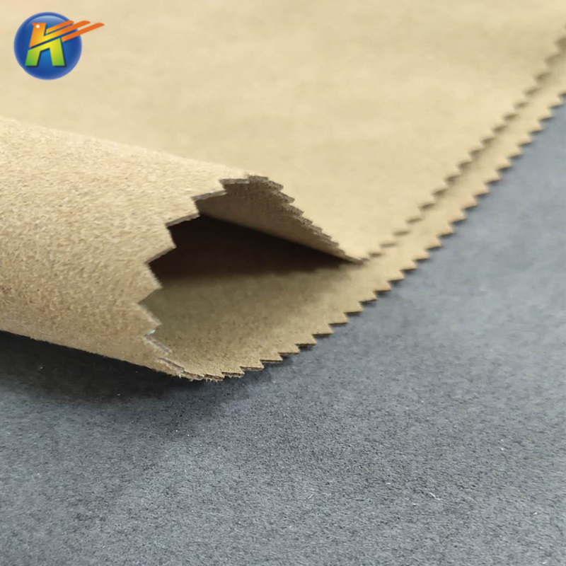 pu nonwoven fabric suede leather microfiber for sofa